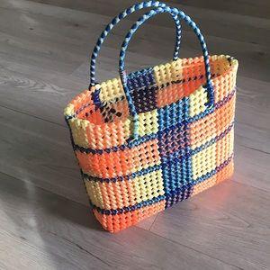 80's Vintage plastic  bag/ Market bag